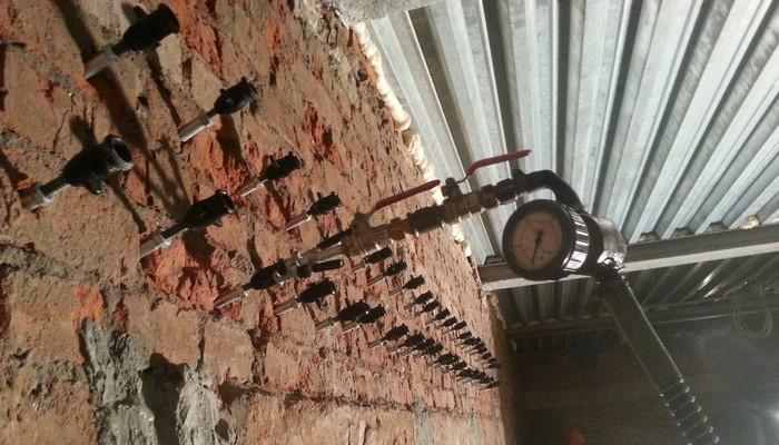 Инъекционная гидроизоляция швов и трещин в кирпичных стенах
