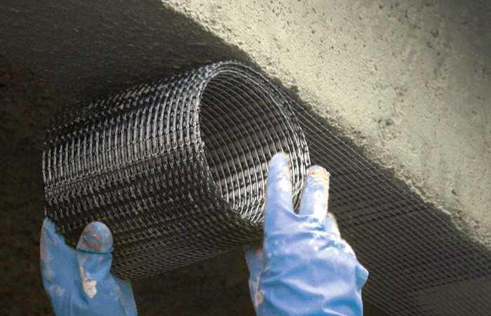 Внешнее армирование углеволоконной сеткой. Ремонт, усиление железобетонных конструкций в Москве и МО